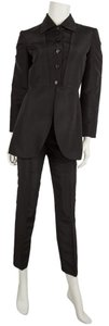 Alberta Ferretti Black Silk Two Piece Pant Suit