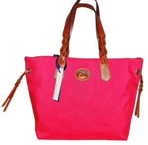 Dooney & Bourke Shopper Canvas Tote in Hot Pink