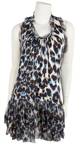 Roberto Cavalli short dress Blue & Gray on Tradesy