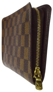 Louis Vuitton LOUIS VUITTON Long Zippy Bifold Wallet Purse Damier Leather Brown