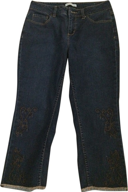 Coldwater Creek Capri/Cropped Denim-Dark Rinse