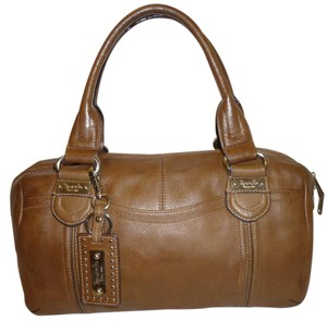 Tignanello Refurbished Leather Satchel in Brown