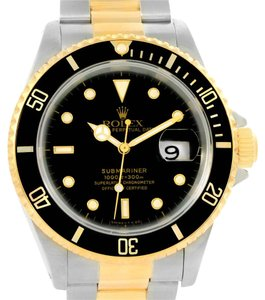Rolex Rolex Submariner Steel 18K Yellow Gold Watch 16613 Box Papers