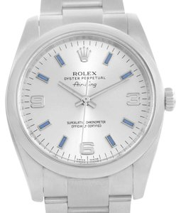 Rolex Rolex Air King Arabic Blue Index Dial Stainless Steel Watch 114200