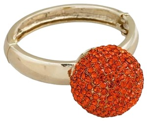 Rhinestone Crystal Orange Harvest Cuff Bracelet Bangle