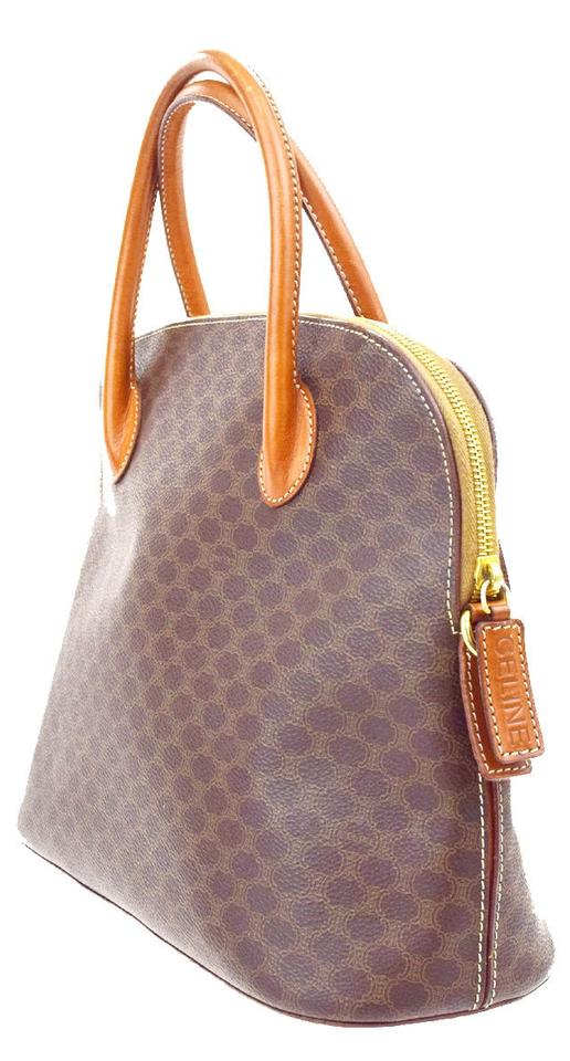 11304a215728 Céline Macadam Logos Pattern Hand Pvc Leather Brown Italy Tote - Tradesy