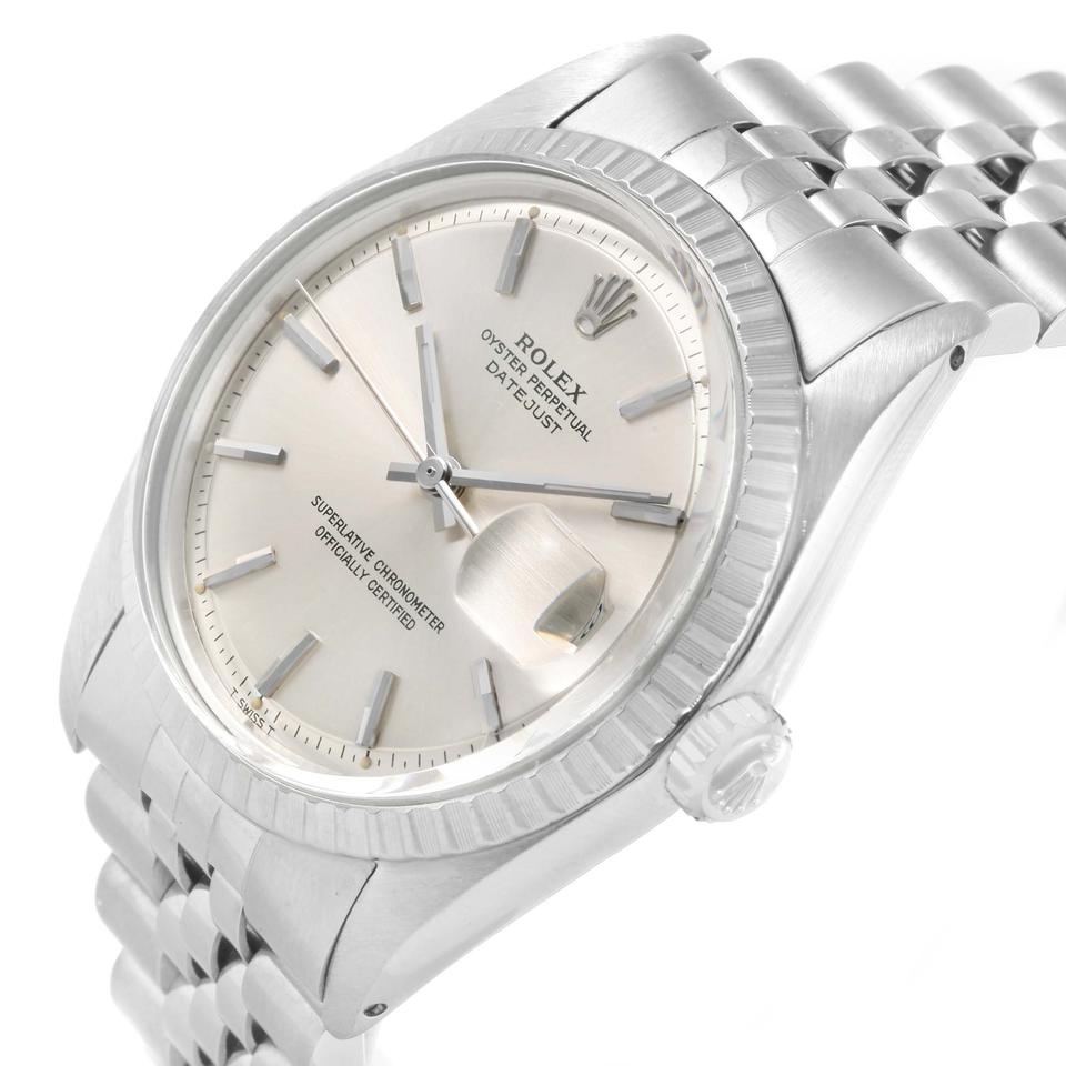 Rolex silver datejust vintage steel dial jubilee bracelet 1603 watch tradesy for Jubilee watch