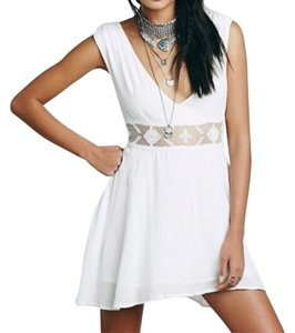 Free People short dress White Cute Tank on Tradesy