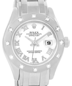 Rolex Rolex Masterpiece Pearlmaster White Gold Roman Dial Diamond 80319