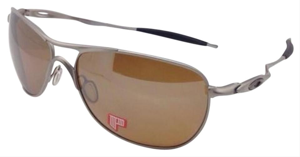2c81d26fe5 ... official store oakley polarized oakley sunglasses ti crosshair oo6014  01 titanium w brown 9bbae 7054f