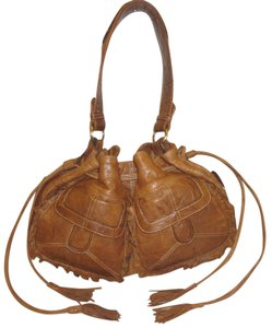 Hayden-Harnett Refurbished Tan Leather Brown Hobo Bag