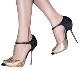 Sam Edelman Egyptian gold and black Formal