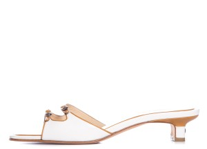 Chanel White & Tan Sandals