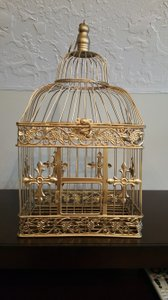 Antique Gold Decorative Birdcage