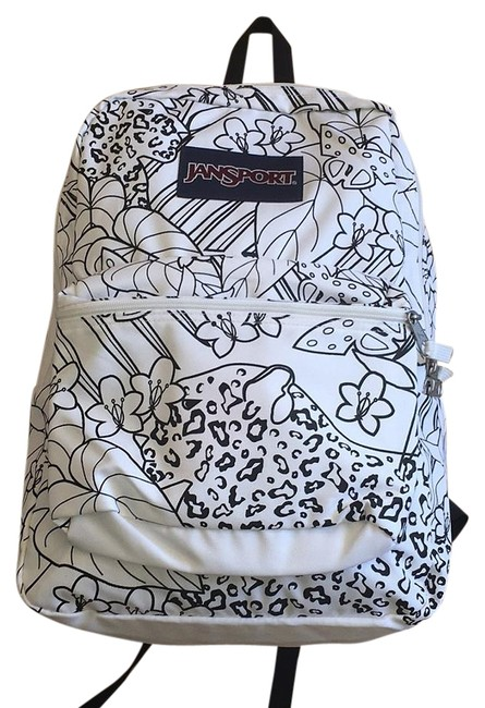 Item - Coloring Page Graphic White Nylon Backpack