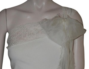 Valentino Silk One Shoulder Top CREAM