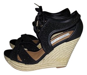 Naughty Monkey Black Wedges