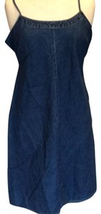 Motherhood Maternity Denim Maternity Spaghetti Strap Dress