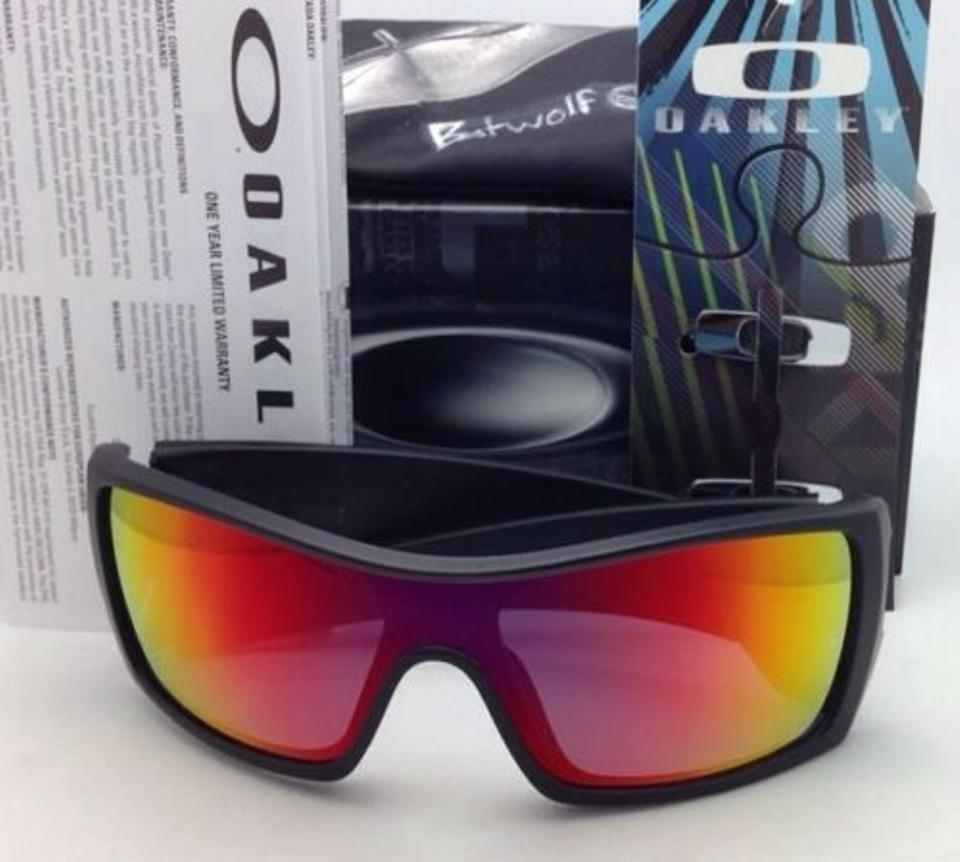 6067e46bd8 Oakley OAKLEY Sunglasses BATWOLF OO9101-38 Black Ink w  Ruby Iridium Image  8. 123456789