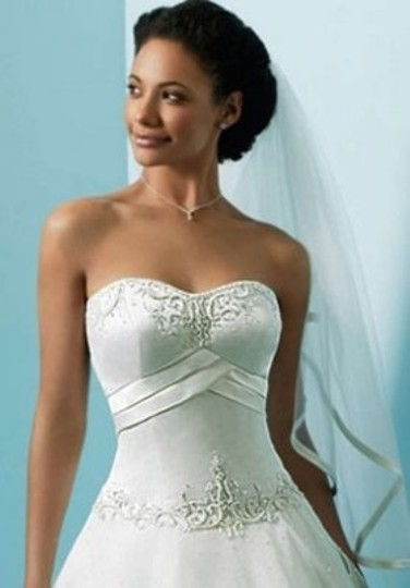 Alfred Angelo White 1123 Formal Wedding Dress Size 14 (L)