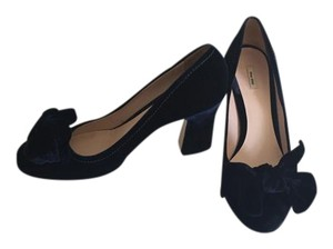 Miu Miu Navy blue velvet Sandals