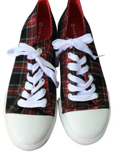 Airwalk Plaid Lace Up Red Athletic