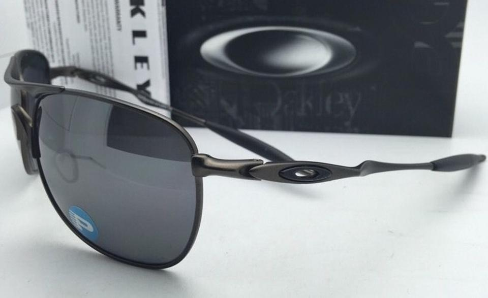 8b8e814246e Oakley Ti Crosshair Oo6014-02 Pewter W  Black Iridium Polarized W   Sunglasses