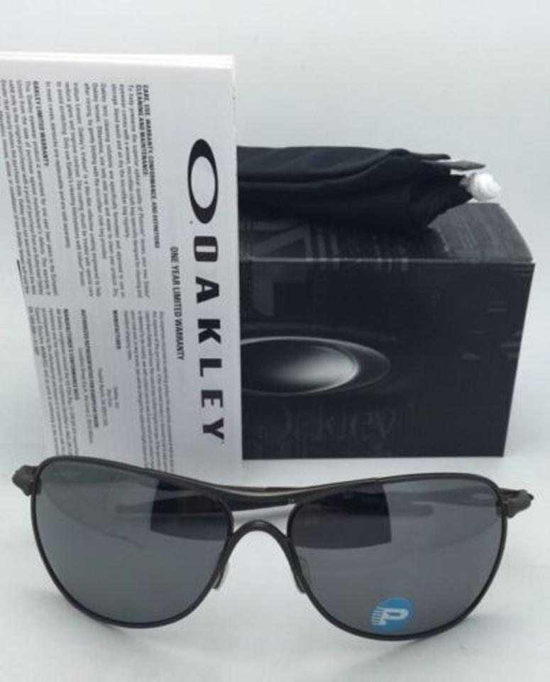 fde8e73b5c Oakley Ti Crosshair Oo6014-02 Pewter W  Black Iridium Polarized W   Sunglasses