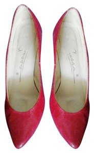 Caressa Spain High Heels Red Pumps