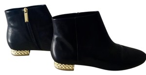 Banana Republic Leather Gold Hardware Bootie Black Boots