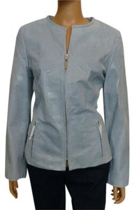Tesori Blue Leather Jacket