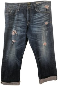Anoname Capri/Cropped Denim-Medium Wash