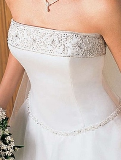Alfred Angelo White 1225 Formal Wedding Dress Size 8 (M)
