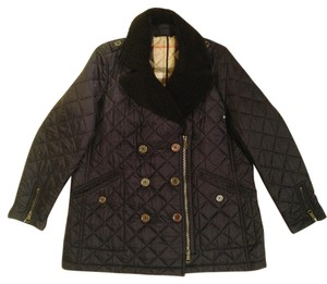 Burberry Zip Quilted Navy Jacket