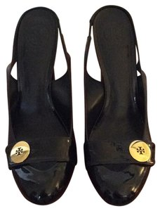 Tory Burch Black Patent Mules