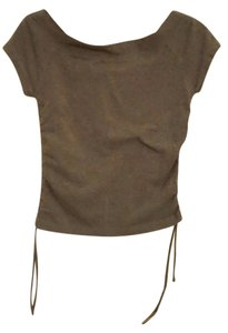 Other Ruching Strapless T Shirt Charcoal Grey