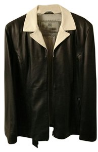 Other Black and Ivory Leather Jacket