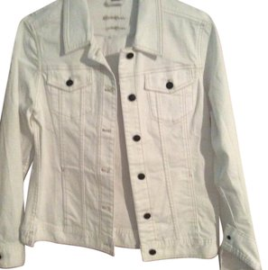 Eddie Bauer Off-White Womens Jean Jacket