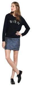 Madewell Mini Skirt Metallic blue