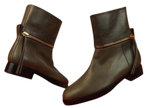 Pierre Hardy Italy Zipped Detail Taupe Boots