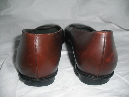 Robert Clergerie Leather Ballet Made In France Brown & Black Flats