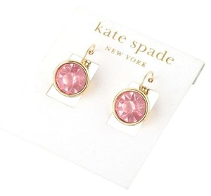 Kate Spade Fast Shipping Round Leverback Earrings Pink Orig. $60