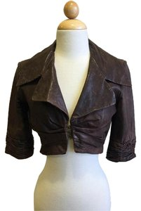 Black Halo Brown Leather Jacket