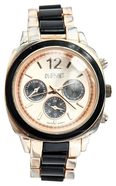 Item - * Rose Gold Tone and Black Watch
