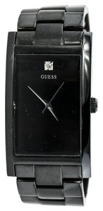 Guess Guess PVD black Diamond Watch
