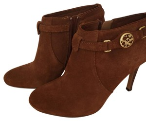 Coach Suede Bootie Brown Boots