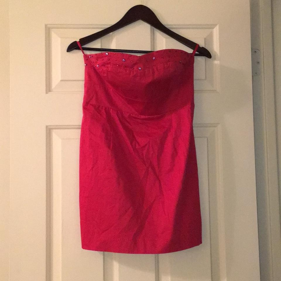 05057045fbf6 Free People Ruby Red Anthropologie Sateen Sparkle Strapless F699y594 ...