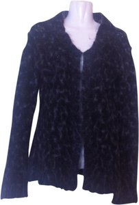 Free People Black Mohair Shaggy Wide Sleeve Sweater