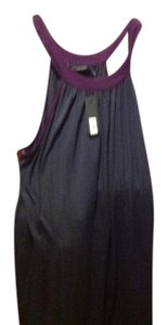 The Limited short dress Dark gray with purple trimming on Tradesy