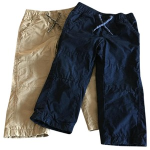 babyGap Straight Pants Khaki & Navy Blue